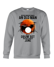 06 drum set never old man Crewneck Sweatshirt tile