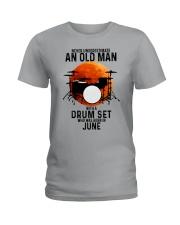 06 drum set never old man Ladies T-Shirt tile
