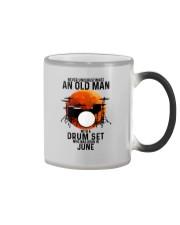 06 drum set never old man Color Changing Mug tile