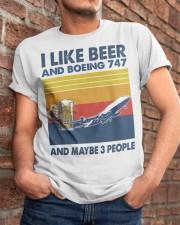 Boeing 747 I Like Beer Classic T-Shirt apparel-classic-tshirt-lifestyle-26