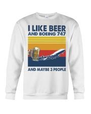 Boeing 747 I Like Beer Crewneck Sweatshirt tile