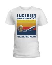 Boeing 747 I Like Beer Ladies T-Shirt tile