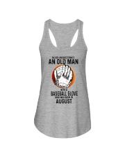 08 baseball old man Ladies Flowy Tank tile