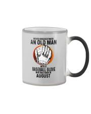08 baseball old man Color Changing Mug tile