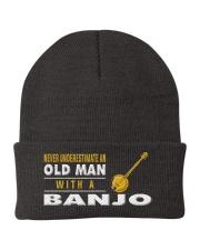 hat banjo old man Knit Beanie thumbnail