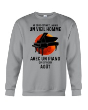 08 piano old man france Crewneck Sweatshirt tile