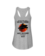 08 piano old man france Ladies Flowy Tank tile