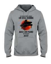08 piano old man france Hooded Sweatshirt tile