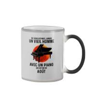 08 piano old man france Color Changing Mug tile