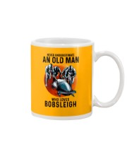 bobsleigh old man Mug tile
