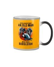 bobsleigh old man Color Changing Mug tile