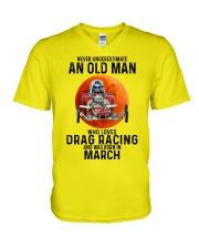 03 dragrc-olm V-Neck T-Shirt tile