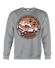 i like dog Dirt track racing Crewneck Sweatshirt tile