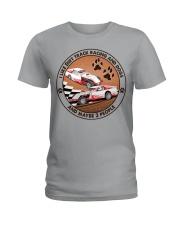 i like dog Dirt track racing Ladies T-Shirt tile