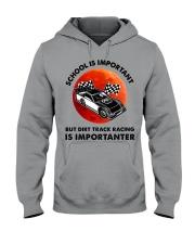 red school-Dirt track racing Hooded Sweatshirt tile