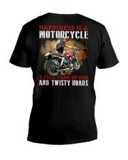 Biker Happiness V-Neck T-Shirt tile