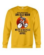 04 cycling never old man Crewneck Sweatshirt tile