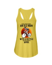 04 cycling never old man Ladies Flowy Tank tile