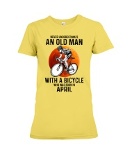 04 cycling never old man Premium Fit Ladies Tee tile