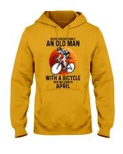 04 cycling never old man Hooded Sweatshirt tile