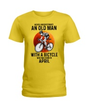 04 cycling never old man Ladies T-Shirt tile