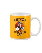 04 cycling never old man Mug tile