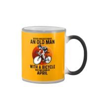 04 cycling never old man Color Changing Mug tile