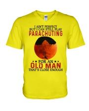 parachuting pefect olm V-Neck T-Shirt tile