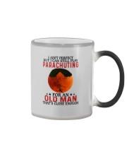 parachuting pefect olm Color Changing Mug tile