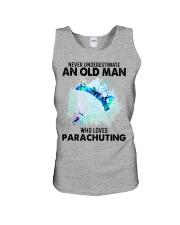 never parachuting Unisex Tank tile