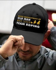 team roping old man Embroidered Hat garment-embroidery-hat-lifestyle-01