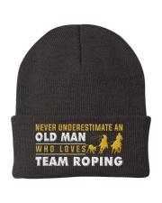 team roping old man Knit Beanie thumbnail