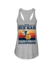 Saxophone Ladies Flowy Tank tile
