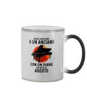08 piano old man tbn Color Changing Mug tile