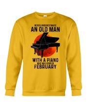 02 piano never old man Crewneck Sweatshirt tile