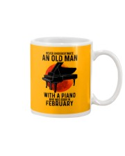 02 piano never old man Mug tile