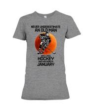 hockey old man 01 Premium Fit Ladies Tee tile
