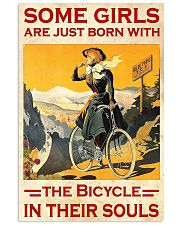 Cycling Girl Poster 24x36 Poster front