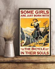 Cycling Girl Poster 24x36 Poster lifestyle-poster-3