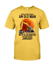 01 excavator old man color Classic T-Shirt fro
