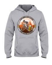 i like beer cycling Hooded Sweatshirt front