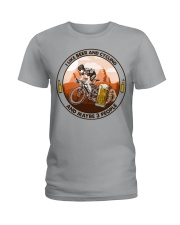 i like beer cycling Ladies T-Shirt tile
