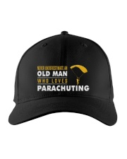 hat parachuting old man Embroidered Hat front
