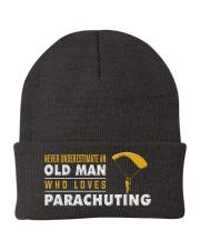 hat parachuting old man Knit Beanie thumbnail