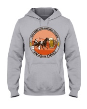 i like beer Harness racing Hooded Sweatshirt front
