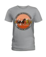 i like beer Harness racing Ladies T-Shirt tile