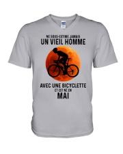 05 Cycling Old Man France V-Neck T-Shirt tile