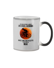 05 Cycling Old Man France Color Changing Mug tile
