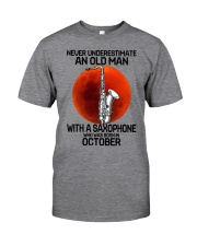 saxophone old man 10 Classic T-Shirt front