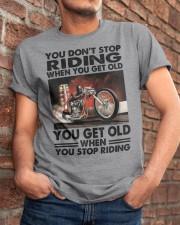 motorcycle drag racing riding Classic T-Shirt apparel-classic-tshirt-lifestyle-26